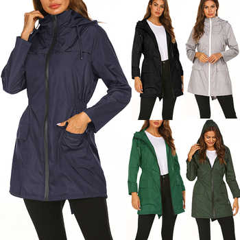 Women Fashion Raincoat Lightweight Travel Capa De Chuva	Impermeable Lluvia Waterproof Gabardina Mujer Hiking Rain Poncho - DISCOUNT ITEM  26 OFF Home & Garden