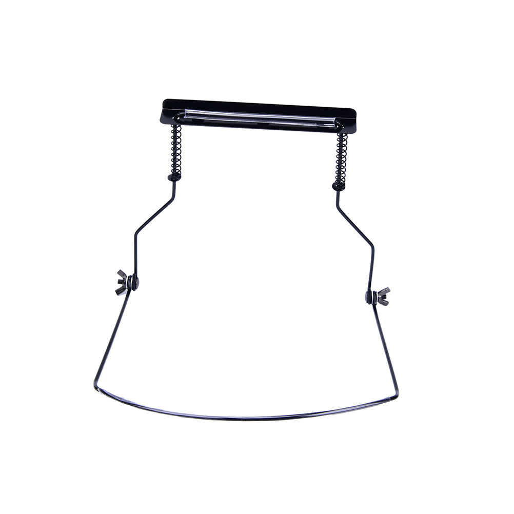 Quente 10 buracos preto iniciante portátil simples gaita pescoço titular ajustável boca órgão estande harpa harpa rack de metal