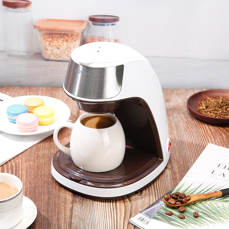 KONKA – Machine à café en céramique, automatique, spécial américain, pour la maison et le bureau, pour préparer du thé ou du café en poudre 1