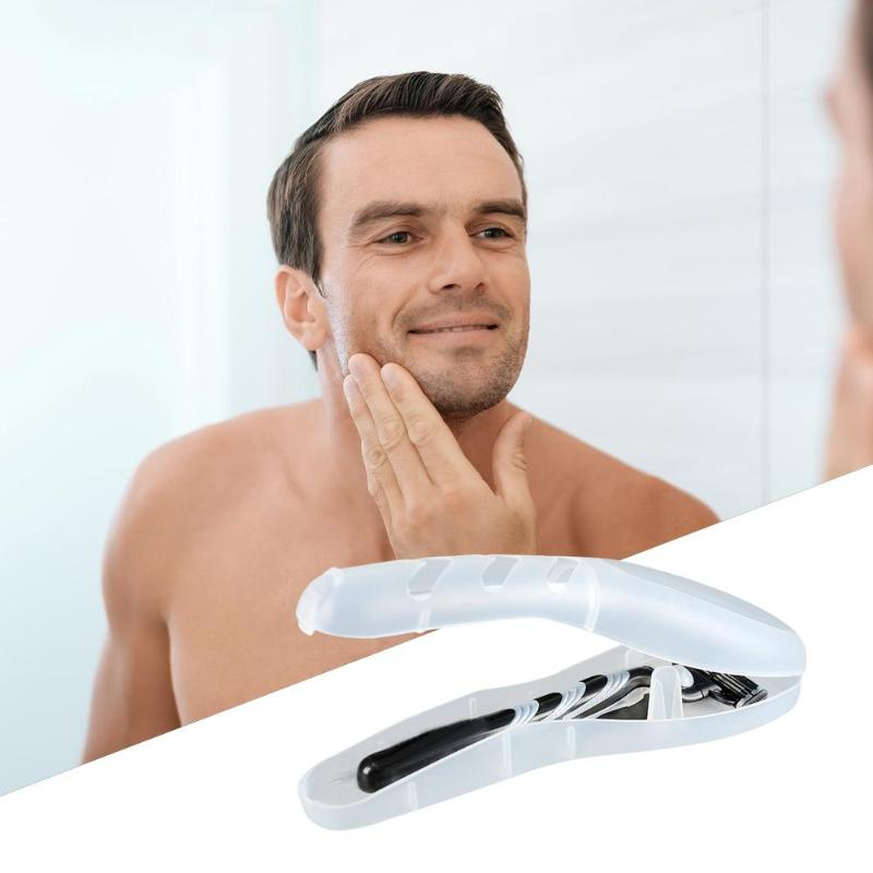1pc Portable Men Razor Blades Storage Box Shaver Travel Case For Gillette