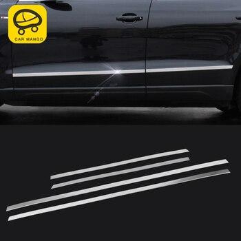 CarManGo For Audi Q5 B8 B9 2012-2017 Car Styling Door Gate Side Body Cover Trim Frame Sticker Chrome Exterior Accessories