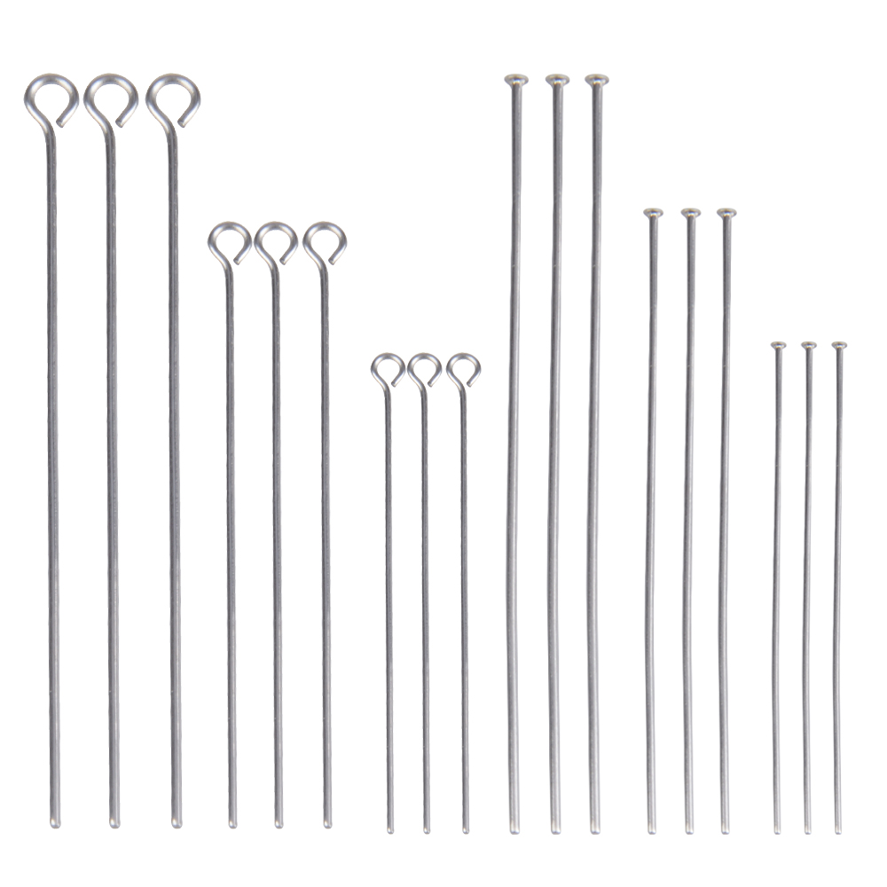 100Pcs/Lot Stainless Steel Headpin Diy Jewelry Accessories Earrings Beading Eye Pins Flat Head Pins For Jewelry Making