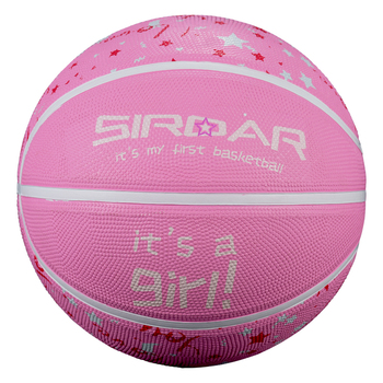 SIRDAR Wholesale cheap basketball ball size 4 pink branded rubber laminated basketball for kids childrens basketball image