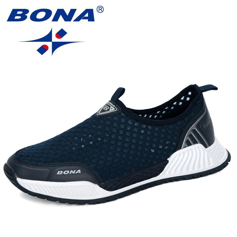 Кроссовки BONA мужские прогулочные, удобные дышащие кеды, дизайнерская повседневная обувь, модные, 2020