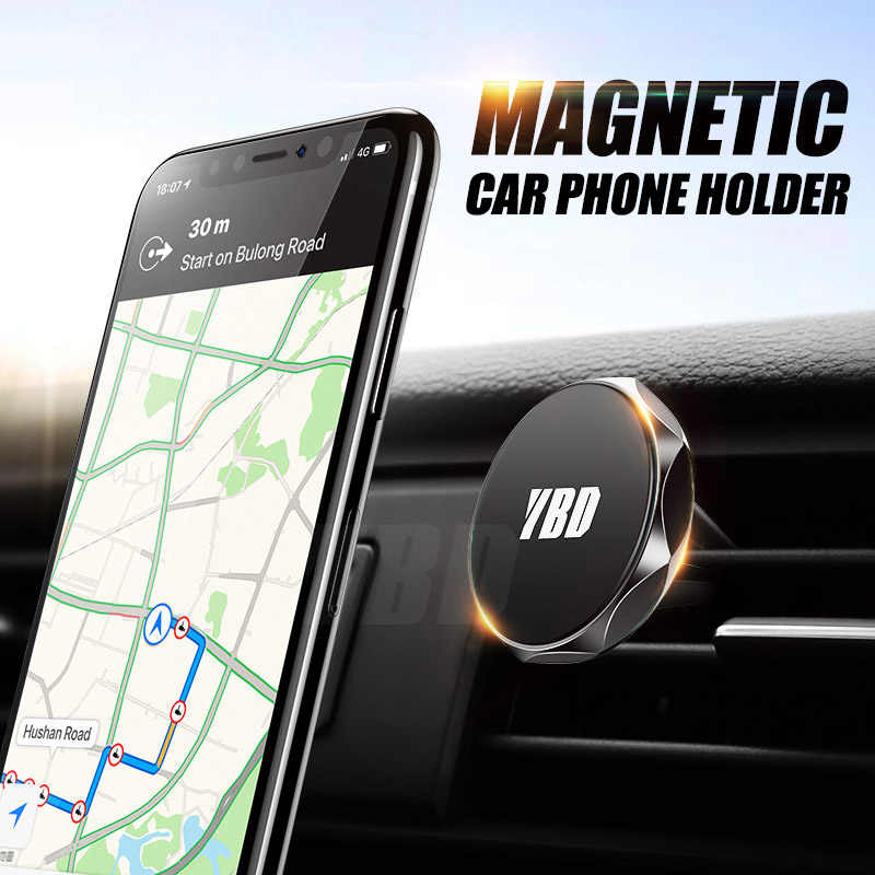 YBD Car Phone Holder Air Vent Mount Magnetic Holder For iPhone Samsung Huawei Redmi Note 7 Car Mobile Support Holder for Phone