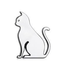 Car Personality Pet Cat Logo Animal Metal Sticker Logo Badge Car Side Fender Rear Trunk Decoration Accessories