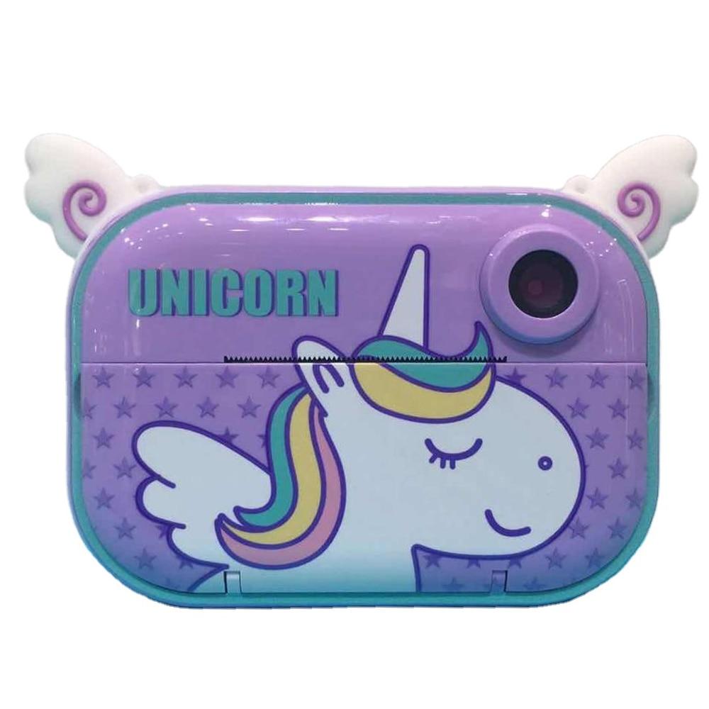 Wifi Lovely Unicorn Purple Smart Children's Toys Children Digital Camera Cartoon Cute Kids Digital Instant Camera