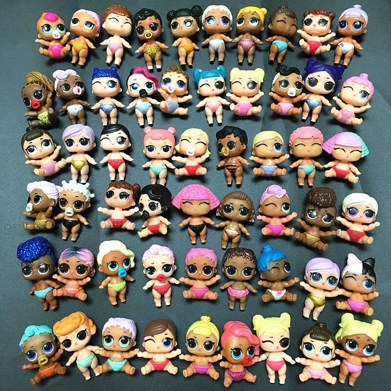 Случайный 5/10/20/50 шт. L.O.L. Сюрприз! Изменение 4 цвета см LIL для маленьких девочек куклы LOL для девочек Little Sister куклы для детей на день рождения иг...