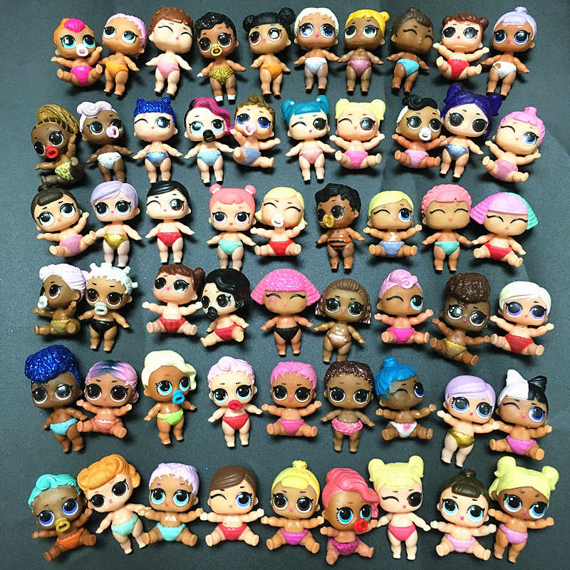 random 5Pcs LOL Surprise Doll Lil Sisters girl baby figure collect toys gift