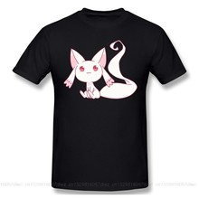 Magia Record Japanse Anime T-shirts Voor Mannen Lil Kyubey Grappige Crewneck Katoen Grafische Tees Gedrukt(China)