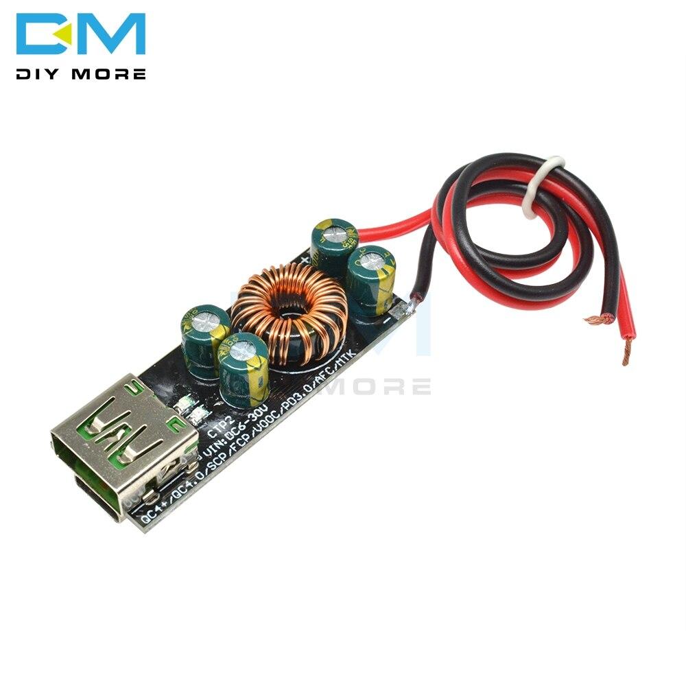 Мобильный телефон QC4.0 QC3.0 6 -35 в, USB Type-C адаптер быстрой зарядки, понижающий модуль Boost для Huawei SCP/FCP, Apple PD, Qualcomm