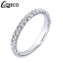 Cuteeco Hight Quality Silver Color Stackable Pan Ring Wheat Shape Arrow Finger Women Vintage Engagement Jewelry