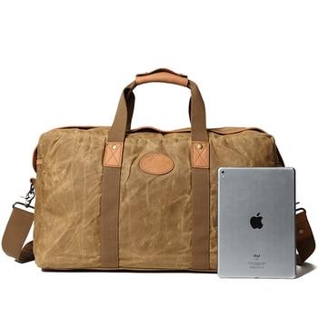 Men Canvas Travel Bags Outdoor sports travel bag Fitness Bag Men Weekend Bag More Function Man Handbag   Oversized Overnight Bag