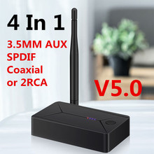Bluetooth 5,0 аудио передатчик 3,5 мм 3,5 AUX разъем RCA USB коаксиальный Оптический стерео беспроводной адаптер донгл для ТВ ПК наушников