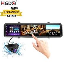 """Nuovo HGDO12 """"4G Specchio Retrovisore Camer Auto DVR Android 8.1 GPS Cancelliere WiFi 2 + 32G FHD 1080P del Precipitare Della Macchina Fotografica di Guida Video Recorder"""