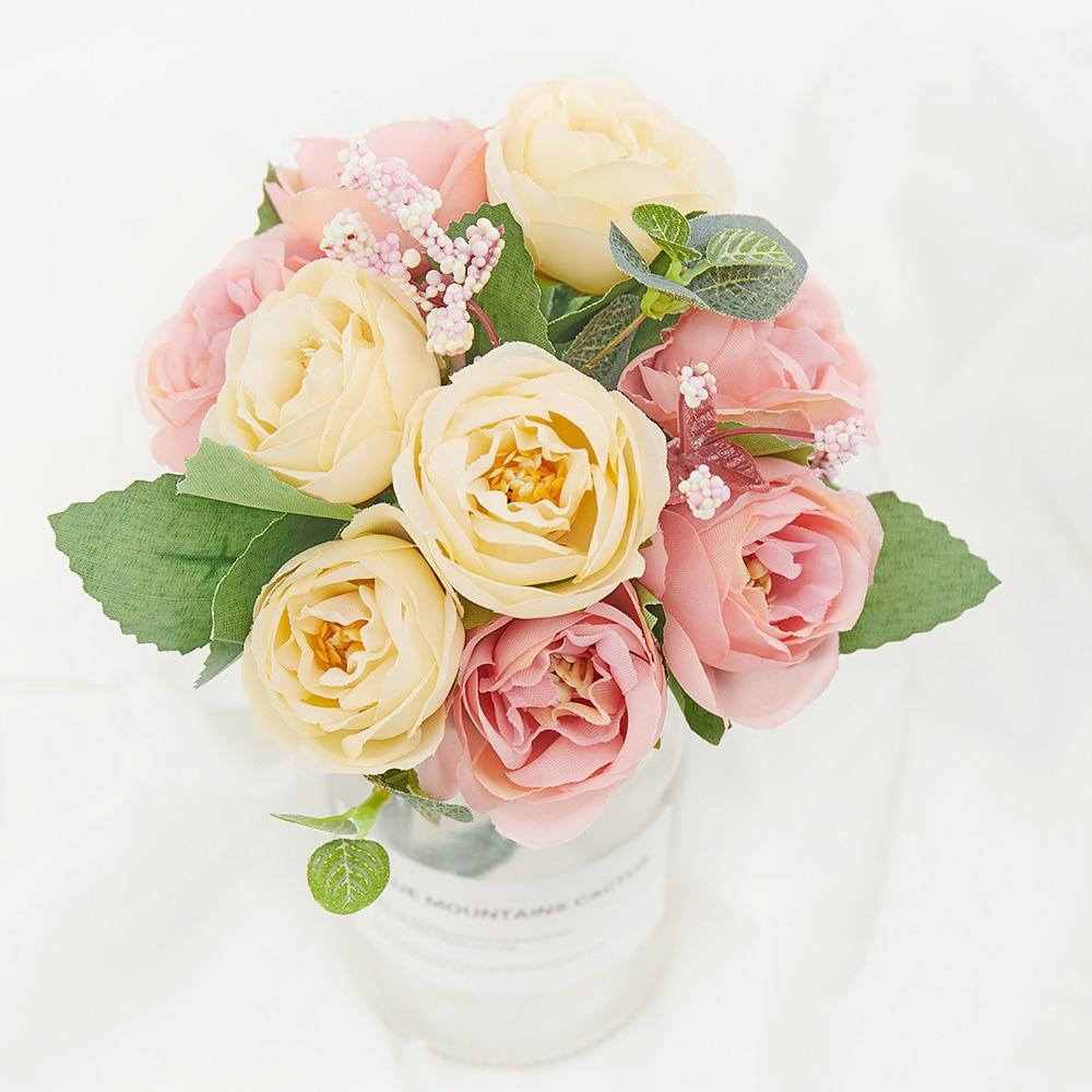 Christmas Artificial Flowers Pine Flower Fake Flower Wedding Party DIY Decor d