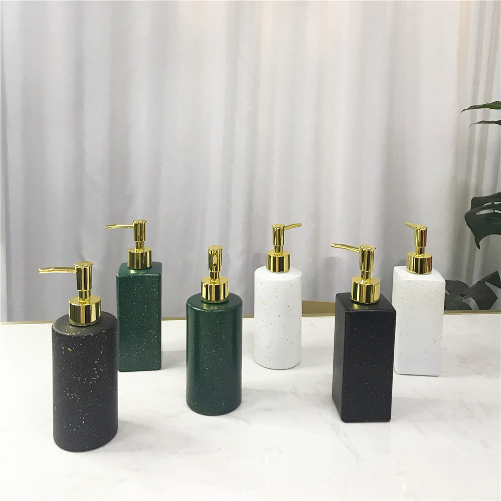Luxury Ceramic Bathroom Marble Soap Dispenser Pump Bottle Shower Gel Shampoo Nordic Home Couple Cup Soap Dish Washing Tools 1 Pc Delaying Senility