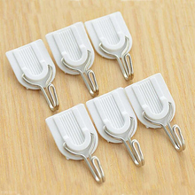 18PCS Strong Adhesive Hook Wall Door Sticky Hanger Holder Kitchen Bathroom White new 18pcs white sticky self adhesive hook for kitchen bathroom tower holder hanger kitchen use