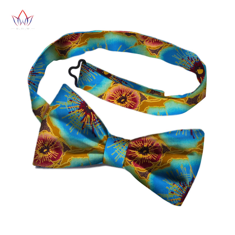 African Print Bow Tie For Men Bohemia African  Cotton Print Fabric Gifts For Men African Traditional Men Fake Collar WYb340