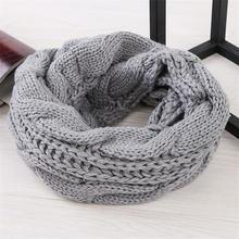 2020 Теплый Вязаный Круглый шарф Зимний женский мужской шейный