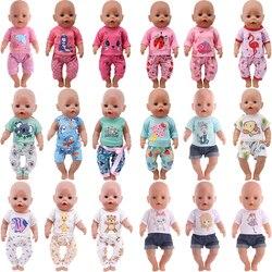 Милое пижамное платье с животными, платье для 18 дюймов, аксессуар для американской куклы, игрушка для девочек, одежда для новорожденных, акс...
