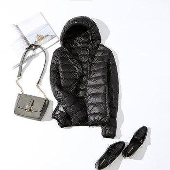 New Brand 90% White Duck Down Jacket Women Autumn Winter Warm Coat Lady Ultralight Duck Down Jacket Female Windproof Parka 19