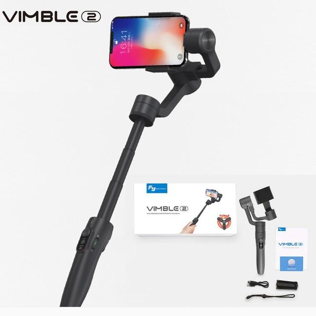 Feiyutech Vimble 2 3 軸スマートフォンジンバル拡張可能 Selfie 用 iPhone X の Gopro 6 5 サムスン VS Zhiyun スムーズ 4