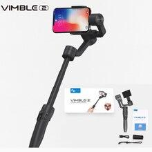 Feiyutech vimble 2 três eixos smartphone cardan extensível selfie estabilizador para iphone x gopro 6 5 samsung vs zhiyun suave 4