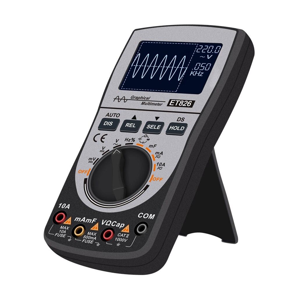 Et826 multímetro digital faixa automática retroiluminação dc