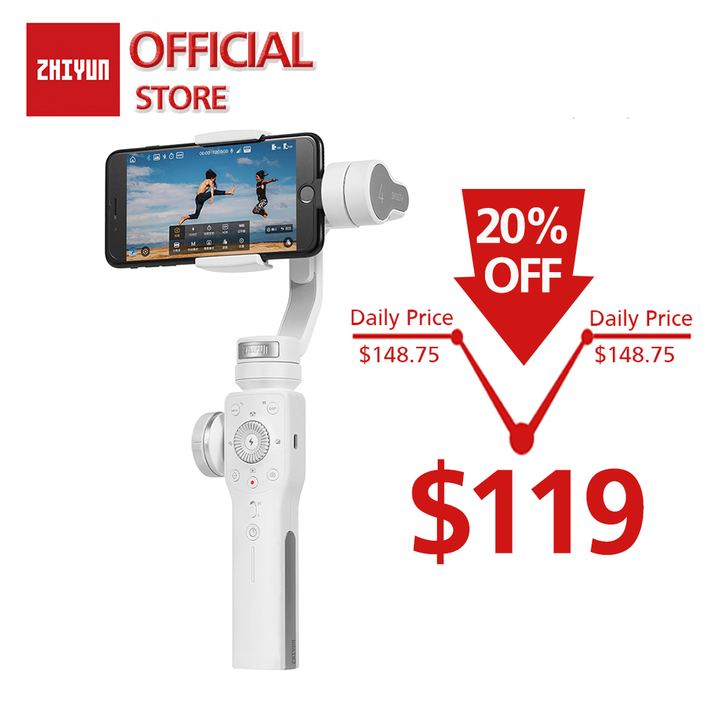 ZHIYUN Official Smooth 4 3 Axis phone Stabilizer Handheld Gimbal Camera for iPhone Samsung Smartphone Gopro