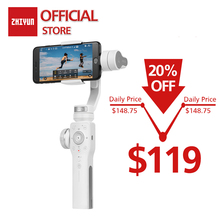 ZHIYUN Official Smooth 4 3-Axis phone Stabilizer Handheld Gimbal Camera for iPhone Samsung Smartphone Gopro yi Action Camera original soocoo ps2 1 axis adjustable gryo stabiliser compatible with all sprots action camera and smart phone