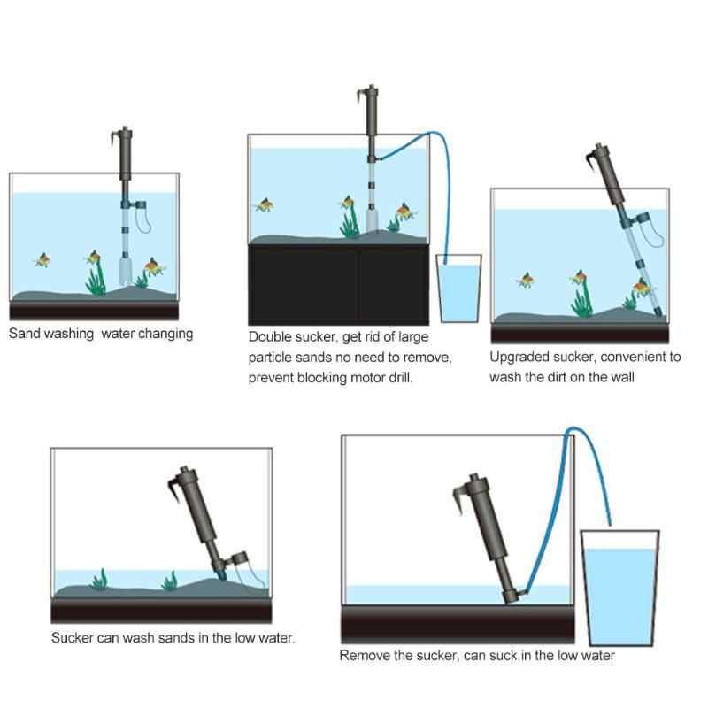 Aquarium Siphon Aquarium Filter Reiniger Vakuum Kies Sauber Siphon Wasser Changer Pumpe Sand Washer Aquarium Reinigung Werkzeuge