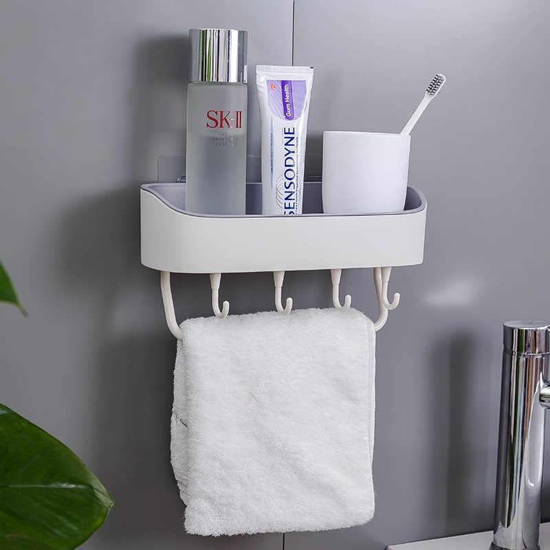 4 kleuren Zuignap Hoek Douche Plank Badkamer Shampoo Douche Plank Houder Keuken Opslag Rack Organizer
