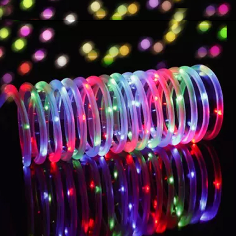Battery Operated 5/10MLED Rope Tube String Lights Remote Flash RGB Fairy Garland Waterproof Christmas Wedding Outdoor Decoration