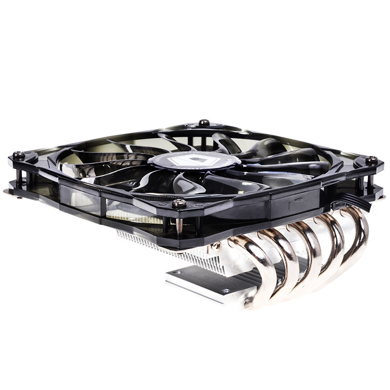 ASHATA ID-Cooling IS-50 CPU Radiator 5 Heat Pipes CPU Cooler 12CM Temperature Control ITX HTPC Low Noise Ultra-Thin Cooling Fan