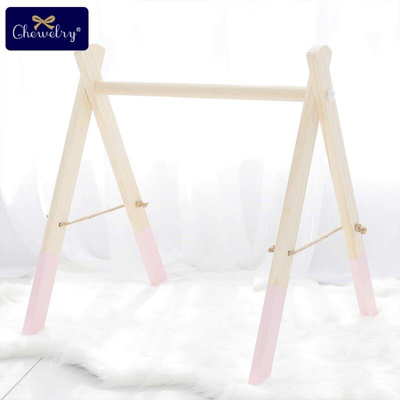 En bois bébé Gym accessoires & jeu Gym hochet jouet ensemble cadre pépinière décor Montessori sensoriel jouet bébé hochets cadeaux pour bébé