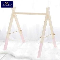 Holz Baby Gym Zubehör & Spielen Gym Rassel Spielzeug Set Rahmen Kindergarten Decor Montessori Sensorische Spielzeug Baby Rasseln Geschenke Für baby