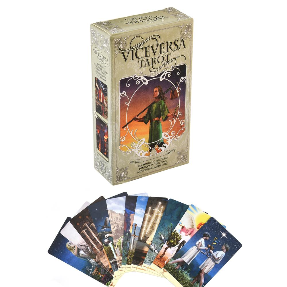 Viceversa Tarot Kit Oracl Tarot Deck Card Game Green Witch Tarot Deck Table Card Board Game Party Playing Cards Family Games