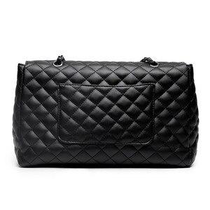 Image 3 - Classic Diamond Pattern Women Plaid Messenger Bag Big Square Female Shoulder Bags Rhombus Lattice Large Size Luxury Lady Handbag