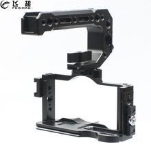 """ZV1 Camera Cage Rig impugnatura superiore impugnatura per Sony ZV1 Video SLR stabilizzatore staffa di prolunga per scarpa fredda 1/4 """"3/8"""" tri Vlog treppiede"""