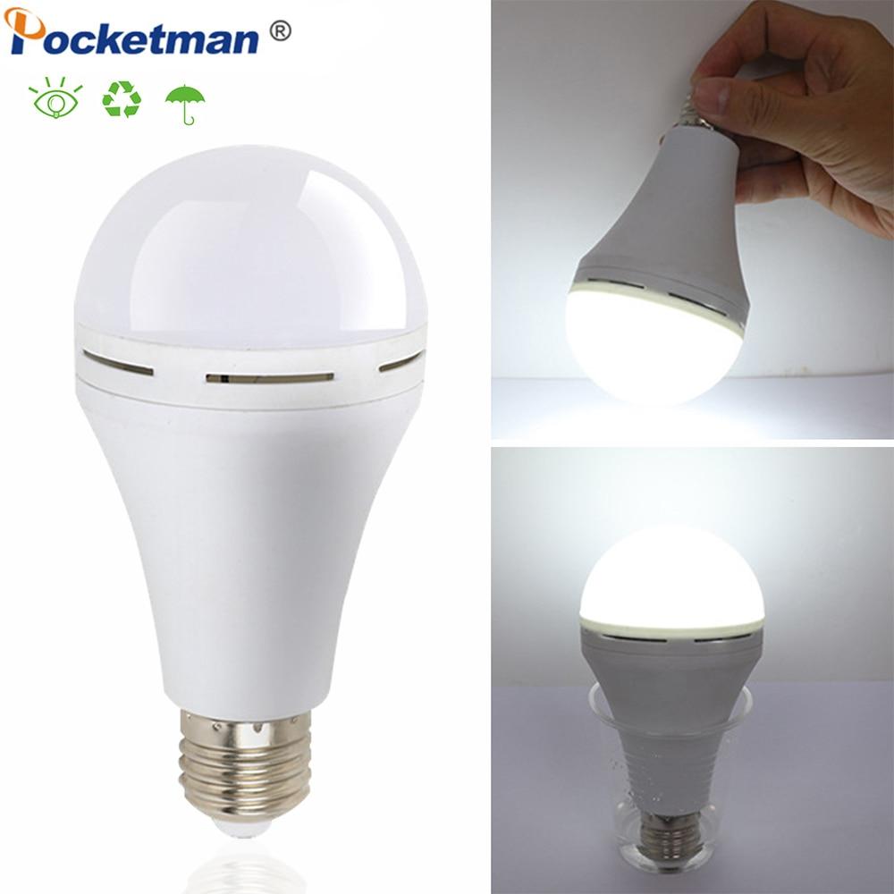 LED Light Bulb Emergency Light E27 9W 12W 15W 18W LED Lamp Rechargeable Battery Lighting Lamp For Outdoor Bombillas Lamp