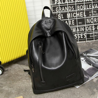 The new fashion is full of men and women leisure pu soft skin personality small fresh backpack