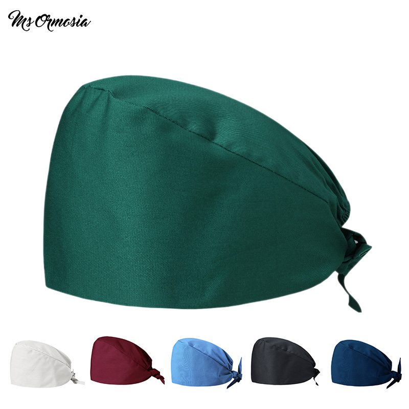 MSORMOSIA Surgical Hats Mask Unisex Medical Uniforms Wash Cap Medical Surgical Surgery Doctor Nurse Pharmacist Adjustable Hats