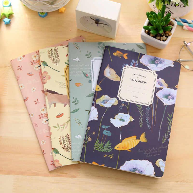 1Pcs = 20 Lembar Bunga dan Burung Kartun Notebook Retro Portable Notebook Alat Kantor Anak Alat Tulis Hadiah