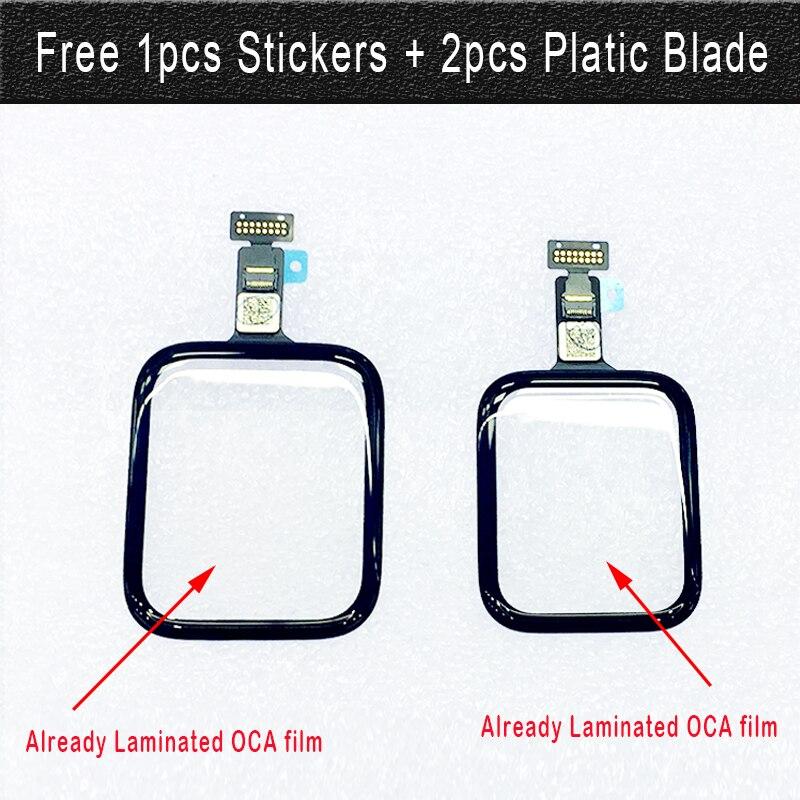 1 шт. протестированный сенсорный дигитайзер стекло ламинированный OCA клей для Apple Watch серии 5 4 3 2 1 S4 S5 38 мм 42 мм сменный передний ЖК-датчик
