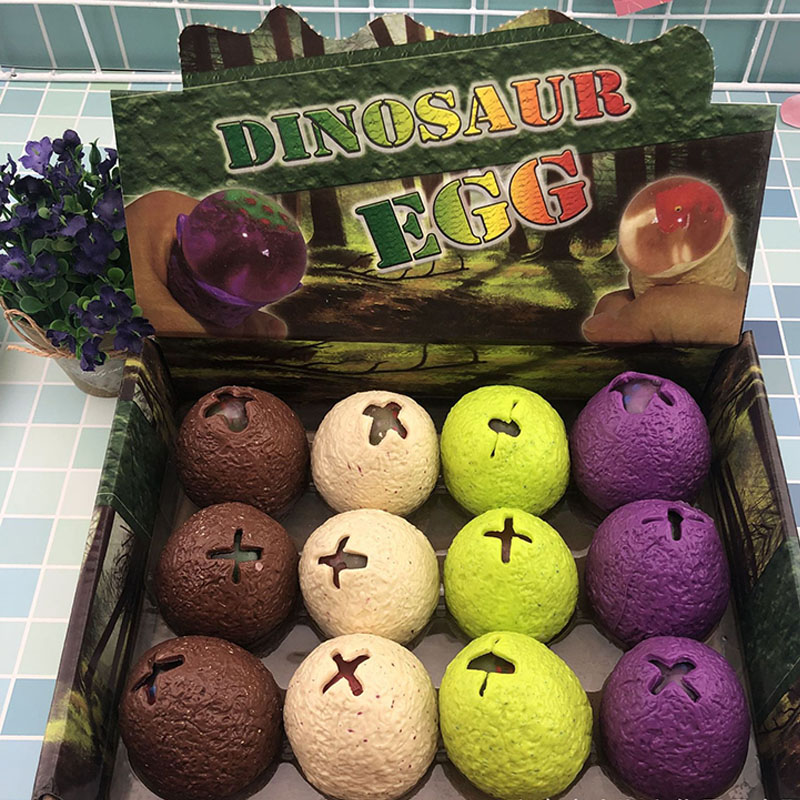 TPR Dinosaur Pinch Egg Squeeze Vent Ball Child Decompression Hatch Egg Polo Pinch