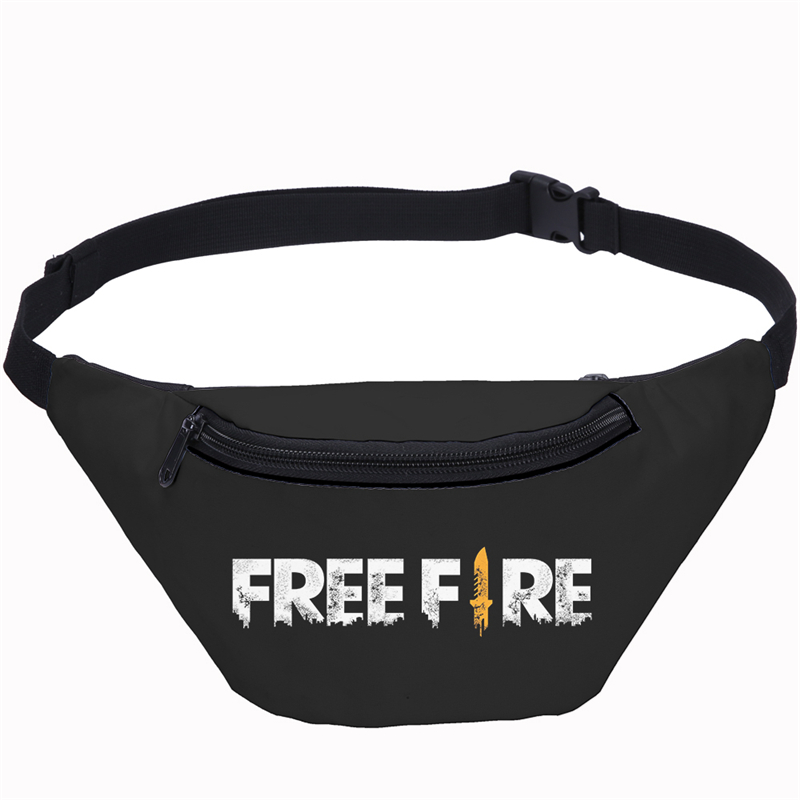 Fashion Game Free Fire Unisex Man Waist Bags Fanny Pack For Women Belt Travel Bag 3D Printing Purse Boys Chest Pouch Bullet Pack