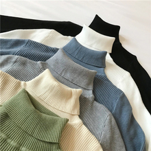 Autumn Winter Thick Sweater Women Knitted Pullover Ribbed Sweater Long Sleeve Turtleneck Slim Warm Soft Pull Femme Jumper 2021