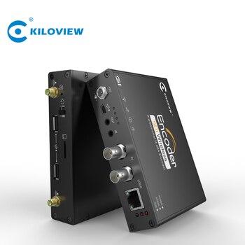 Kiloview Wifi 4G LTE H.264 HD SDI to IP 1080P Live Streaming Video Encoder u8vision 8 in 1 h 264 hdmi to ip video encoder live streaming encoder hd encoders h264 with udp hls rtmp rtsp http onvif
