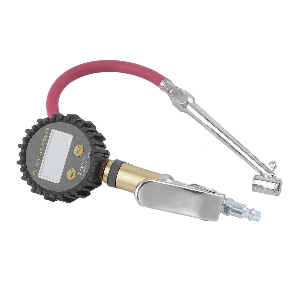 Digital Air Reifen Inflator Mit Hohe Genaue LCD Display Hand Reifen Manometer Meter Auto Auto Fahrrad Zubehör